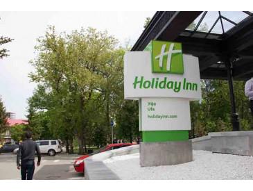 Освещение парковки гостиницы Holiday Inn