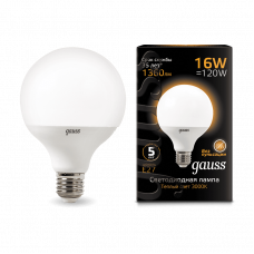 Лампа Gauss LED G95 E27 16W 3000K