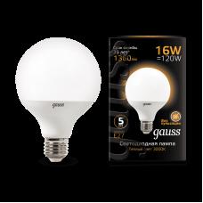 Лампа Gauss LED G95 E27 16W 3000K