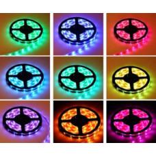 Лента светодиодная стандарт (IP20) SMD5050 - 60led/14.4Вт на метр 24В RGB мультицветная SWG