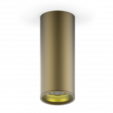 LED светильник накладной HD002 12W (кофе золото) 3000K 79x200мм