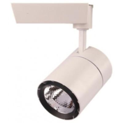 Трековый светодиодный светильник TL63,  30Вт, 3000К, 2300Лм, 24°, φ88*H190 белый