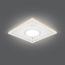 Светильник Gauss Backlight BL127 Квадрат. Белый, Gu5.3, 3W, LED 3000K