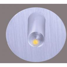 Бра встраиваемое для подсветки лестницы/пола FLOOR R Серебро 1Вт 4500 20 GW-R612-1-SL-NW