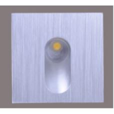 Бра встраиваемое для подсветки лестницы/пола FLOOR S Серебро 1Вт 4500 20 GW-S612-1-SL-NW