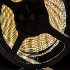 Лента светодиодная стандарт SMD 3528, 60 LED/м, 4,8 Вт/м, 12В, IP65, Цвет: Теплый белый