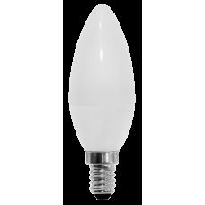 Светодиодная лампа СВЕЧА C35-5W-230-3000K-E14-400лм тепло-белая SWEKO