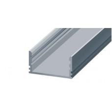 СПН2512 светодиодный профиль накладной алюминиевый, анодированный 2000х25х12мм