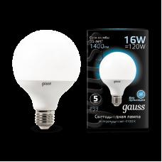 Лампа Gauss LED G95 E27 16W 4100K