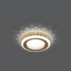 Светильник Gauss Backlight BL084 Кругл. Золото/Белый, Gu5.3, 3W, LED 3000K