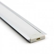 Профиль алюминиевый встраиваемый RC-3006 для всех двухрядных лент (Комплект)