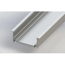 СПВ70-8232 светодиодный профиль врезной, алюминиевый, анодированный 2000х82х32мм