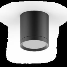 LED светильник накладной с рассеивателем HD014 6W (черный) 3000K 68х75мм