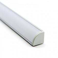 Профиль алюминиевый угловой для однорядной ленты BEST 1616  2м (комплект)