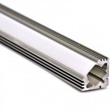 Профиль алюминиевый угловой SF - 1919 для однорядной ленты 2000х19х19 (комплект)