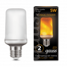 Лампа Gauss Led T65 Corn Flame 5W E27 1500K