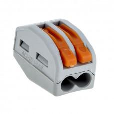 Клеммный соединитель для кабеля до 2,5 мм 2 гнезда WAGO
