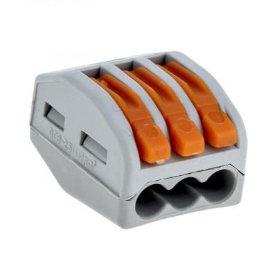 Клеммный соединитель для кабеля до 2,5 мм 3 гнезда WAGO