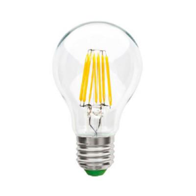 Лампа светодиодная прозрачная Е27 Груша A60 - 7Вт, 630Лм, 3000К Тепло-белая IN HOME
