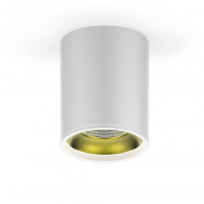 LED светильник накладной HD010 12W (белый золото) 3000K 79x100мм
