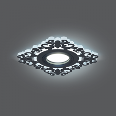 Светильник Gauss Backlight BL129 Квадрат/узор. Черный, Gu5.3, 3W, LED 4000K