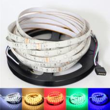 Лента светодиодная стандарт (IP65) SMD5060 - 60led/14,4Вт на метр 12В RGB мультицветная SWG