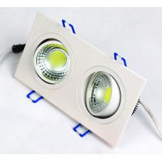 Светодиодный встраиваемый поворотный светильник  HL6702L 2*5W 6500К Белый