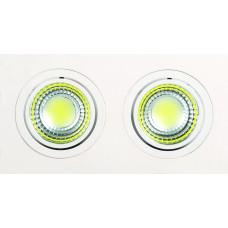 Светодиодный встраиваемый поворотный светильник  HL6702L 2*5W 2700К Белый