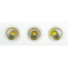 Светодиодный встраиваемый поворотный светильник  HL6713L 3*10W 6500К Белый