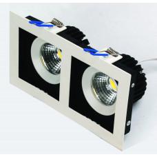 Светодиодный встраиваемый светильник  HL6722L 2*8W 2700К