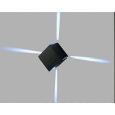 Бра декоративное kvadratish Черный 6Вт 6500 54 GW-5201-6-BL-CW