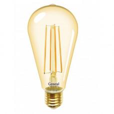 Лампа General LED-ST64S 8Вт Е27 2700К золотая