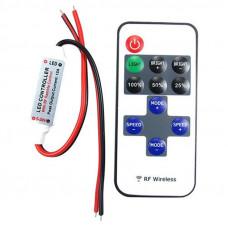 Мини-диммер для одноцветной ленты, радио, 11 кнопок 12В-72Вт/24В-144Вт SWG