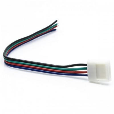 Коннектор с защёлками для RGB светодиодных лент шириной 10мм