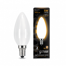 Лампа Gauss LED Filament СВЕЧА OPAL E14 5W 2700К