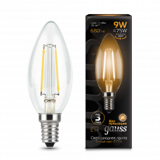Лампа Gauss LED Filament СВЕЧА E14 9W 2700К