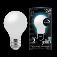 Лампа Gauss LED Filament A60 OPAL dimmable E27 10W 4100К