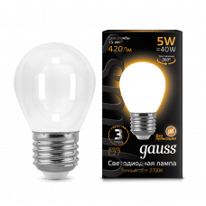 Лампа Gauss LED Filament ШАР OPAL E27 5W 2700K