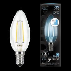 Лампа Gauss LED Filament Свеча E14 7W 4100К step dim