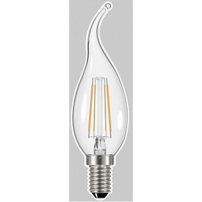 Лампа General LED-CWS Свеча на ветру 7Вт Е14 4500К прозрачная