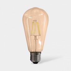 Светодиодная лампа золотистая ST64 17LED-ST64-8W-230-3000K-E27-800Лм SWEKO