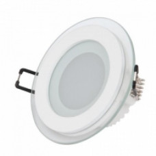 Светильник встраиваемый со стеклом КРУГ 12W, 744Лм, 4000К, D160х40мм (врез D125мм) HOROZ