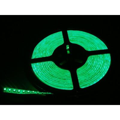 Лента светодиодная стандарт SMD 3528, 120 LED/м, 9,6 Вт/м, 12В , IP65, Цвет: Зеленый SWG