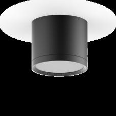 LED светильник накладной с рассеивателем HD016 10W (черный) 3000K 88х75мм