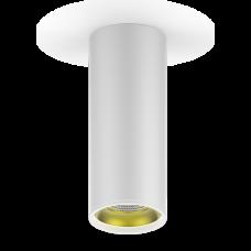LED светильник накладной HD012 12W (белый золото) 3000K 79x200мм