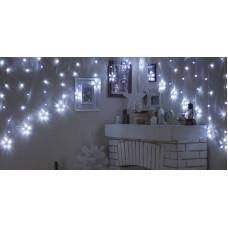 Гирлянда Бахрома-арка, УМС вилка, 2.5 х 1.2 м, LED-136-220V. 8 режимов, свечение белое