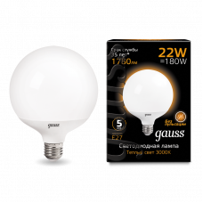 Лампа Gauss LED G125 E27 22W 3000K