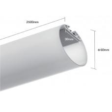 Подвесной алюминиевый профиль LT.60  (2500х60)