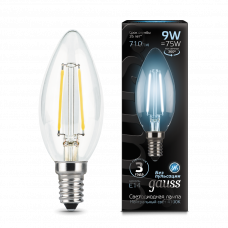 Лампа Gauss LED Filament СВЕЧА E14 9W 4100К