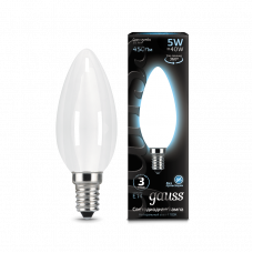 Лампа Gauss LED Filament СВЕЧА OPAL E14 5W 4100К